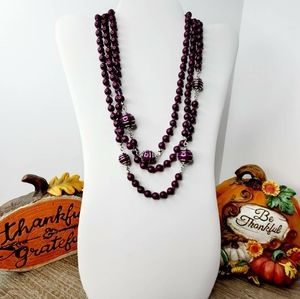 BAY TO BAUBLES BB PURPLE 💜 LAYERED NECKLACE